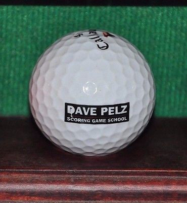 Dave Pelz Scoring Game School logo golf ball. Callaway Hex Black