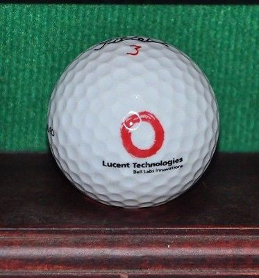 Lucent Technologies logo golf ball. Titleist.