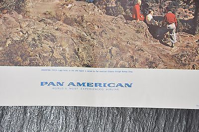 "Pan American Airlines Advertising Poster - Original - 1959 - Chile 16"" x 19"""