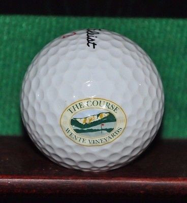 The Course at Wente Vineyards logo golf ball. Titleist
