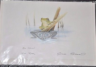 Large Print Card by Sue Coleman called The Frog measuring 9x6""
