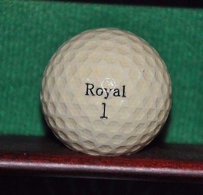 Vintage Royal Uniroyal Plus 6 golf ball. Hexagon Dimples.