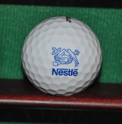 Nestle logo golf ball. Titleist