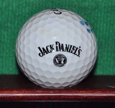 Jack Daniel's Old Number 7 logo golf ball. Callaway