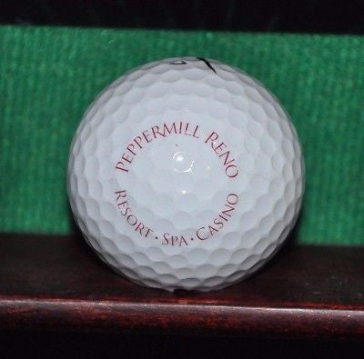 Peppermill Resort Hotel Reno logo golf ball. Nike.