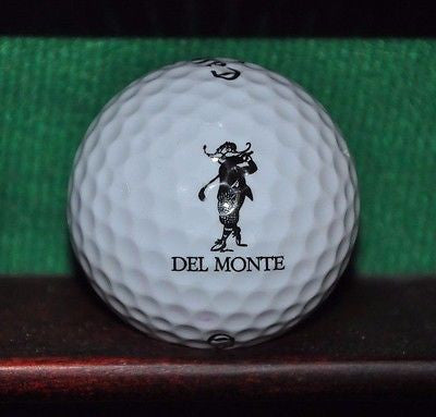 Del Monte Golf Course at Pebble Beach logo golf ball. Callaway