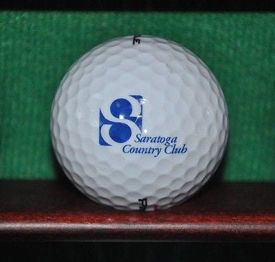 Saratoga Country Club logo golf ball.