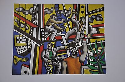 "Constructors with Tree by Fernand Leger Fine Art Print 17"" x 11"""