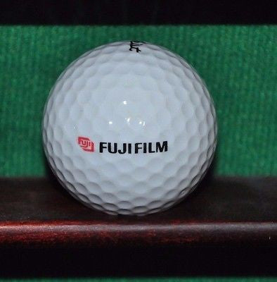 Fujifilm Corporation logo golf ball. Titleist.
