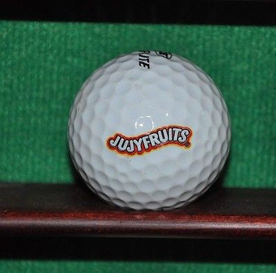 Jujyfruits Candy logo golf ball.
