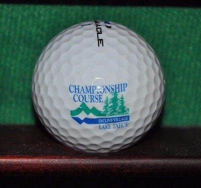 Incline Village Championship Golf Course logo golf ball. Lake Tahoe