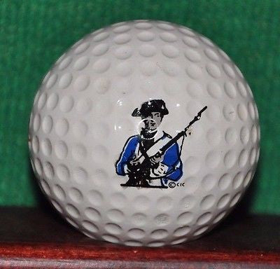 Vintage American Patriot Colonial Army logo golf ball. American Title.