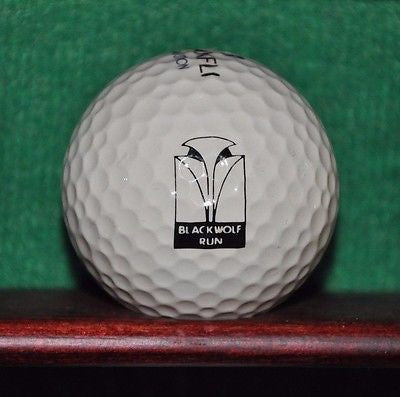 Blackwolf Run Golf Club Logo Golf Ball. Wisconsin. Maxfli Revolution