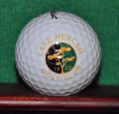 Lake Merced Golf Club logo golf ball. Titleist.