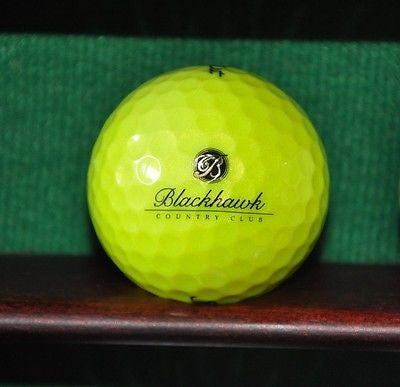 Blackhawk Country Club logo golf ball. Titleist NXT Tour Yellow .