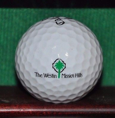 The Westin Mission Hills in Palm Springs logo golf ball. Callaway.