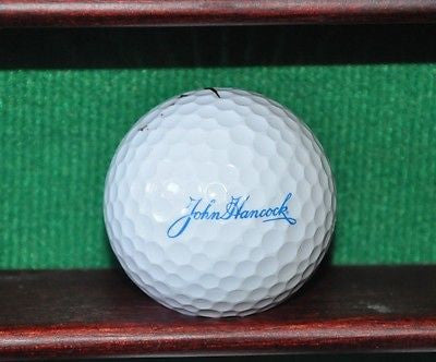 John Hancock Insurance logo golf ball. Nike.