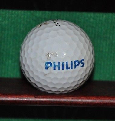 Philips Corporation logo golf ball. Titleist Pro V1