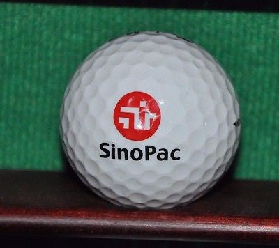 Sinopac Bank Taiwan Republic of China logo golf ball. TaylorMade