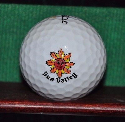 Sun Valley Idaho Golf Club logo golf ball. Titleist