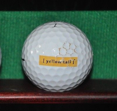 Yellowtail Australia Kangaroo logo golf ball. Titleist Pro V1