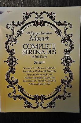 Complete Serenades in Full Score No. 1 by Wolfgang Amadeus Mozart