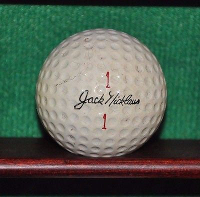 Vintage Jack Nicklaus MacGregor Liquid Center golf ball. Early 1960s
