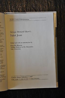 George Bernard Shaw Saint Joan Edited by Harold Bloom