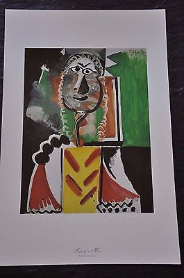 "Bust of a Man by Pablo Picasso Fine Art Print 17"" x 11"""