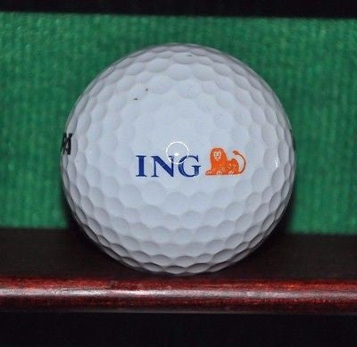 ING Orange Bank logo golf ball.