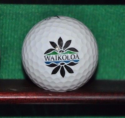Waikaloa Beach Course logo golf ball Nike.