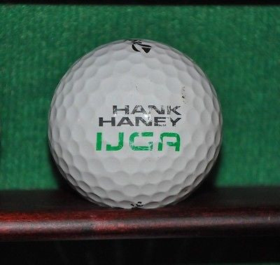 Hank Haney IJGA Golf Academy logo golf ball. TaylorMade