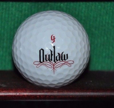Outlaw logo golf ball. Excellent Condition