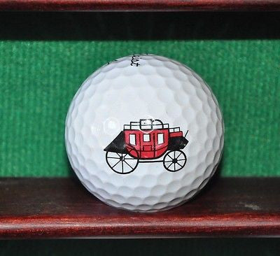 Stagecoach logo golf ball. Titleist Pro V1