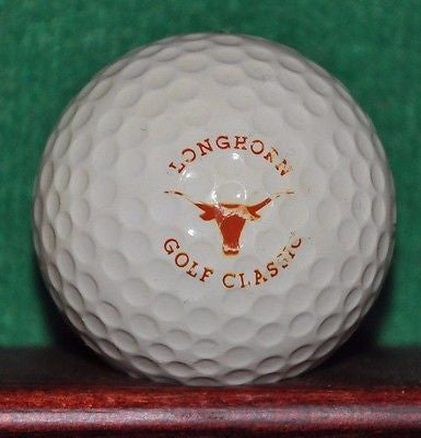 Vintage Texas Longhorn Golf Classic logo golf ball. Bank of the Hills Austin