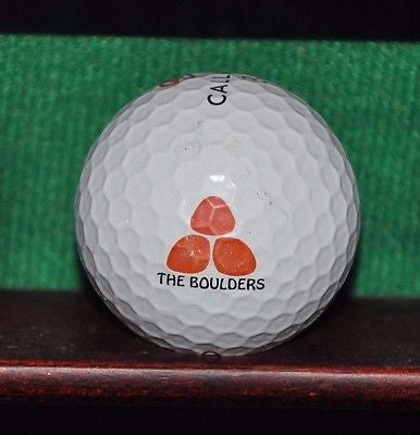 The Boulders Golf Club Waldorf Astoria logo golf ball. Callaway.