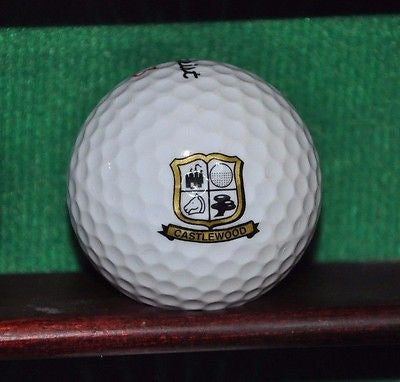 Castlewood Country Club Pleasonton California logo golf ball. Titleist.