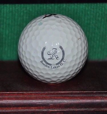 Borden Lakes Golf Club logo golf Ball. Maxfli.