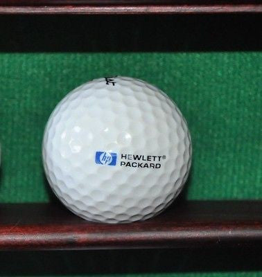 HP Hewlett Packard logo golf ball. Titleist.