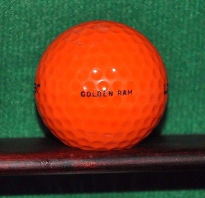 Vintage Laser Golf Ball Golden Ram Orange