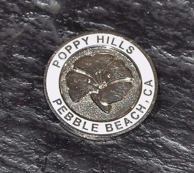 Poppy Hills at Pebble Beach Golf Course Ball Marker. Excellent Condition