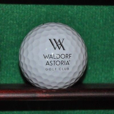 Waldorf Astoria Golf Club logo golf ball. Nike Vapor Black. Excellent Condition