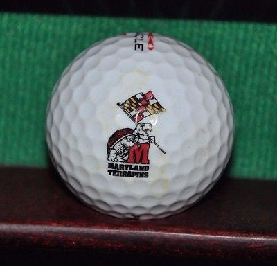 University of Maryland Terrapins logo golf ball