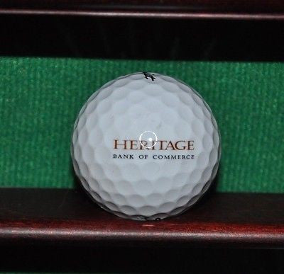 Heritage Bank of Commerce logo golf ball. Titleist.