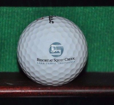 The Resort at Squaw Creek Golf Club logo ball. Titleist.