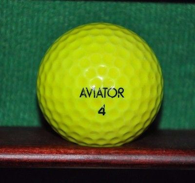Vintage Wilson Aviator golf ball. Yellow.