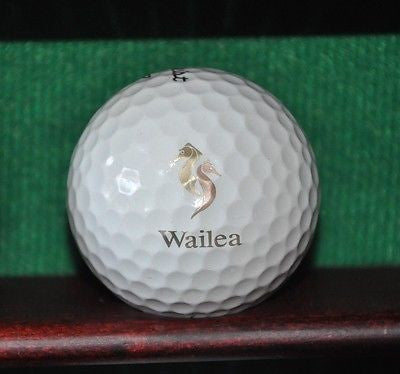 Wailea Golf Club Maui Hawaii Logo golf ball. Titleist Pro V1