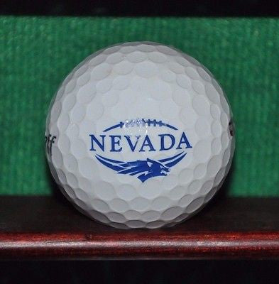 University of Nevada Reno UNR Wolfpack Football logo golf ball. NCAA