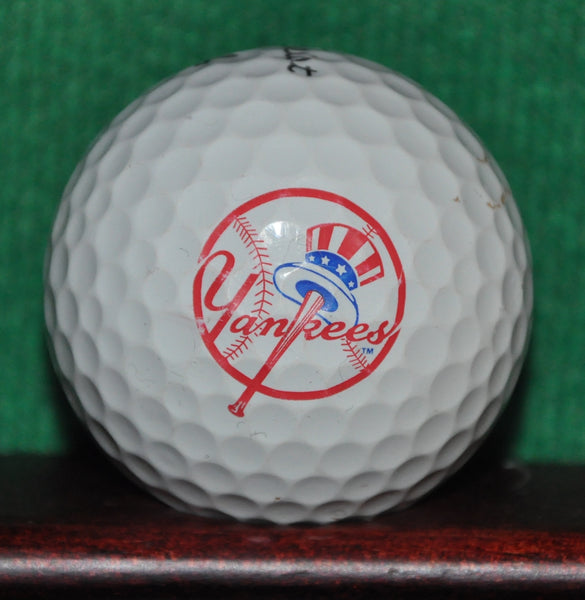 New York Yankees MLB logo golf ball. Titleist Pro V1