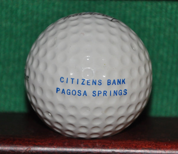 Vintage Citizens Bank Pagosa Springs Colorado Logo Golf Ball. MacGregor. Excellent